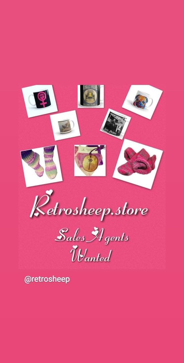 Sales Agents Wanted visit Retrosheep.store